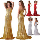 XMAS Sparkly Sequins MERMAID Sexy Long Prom Party Wedding Cocktail Evening Dress
