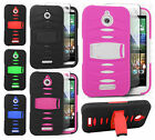 For HTC Desire 510 RUGGED Hard Rubber Phone Case Cover with Kickstand Accessory