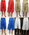 Men's SOUTHPOLE red khaki royal white twill cargo shorts SIZE BIG & TALL  #13127