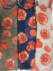 Ladies soft poppy print scarves in a choice of three colours.Ideal present/gift.