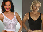 Naturana Longline/Long Line Bra White, Black 8000 NEW Size 36-42 (B, C, D, DD)