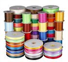 "1/8""~1.5"" INCH 25YDS double face side satin ribbon wedding hairbow many colors"