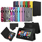 """For NEW 2014 Amazon Kindle Fire HD 6"""" 6 inch Tablet Folio PU Leather Case Cover"""