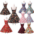 UK Fashion 1950s Vintage Dancing Rockabilly Party Swing Evening Dress Plus Size