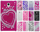For Sharp Aquos Crystal Diamond BLING Protector Hard Case Phone Cover Accessory
