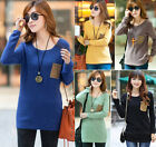 NEW Winter WomenBodycon Round Collar Thickened Warm Loose Pullover Knit Sweater