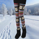 Snowflakes Aztec Tribal Soft Solid Leggings Pattern Womens Winter Pants