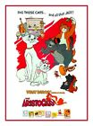THE ARISTOCATS CLASSIC 1970 CHILDRENS FILM A3 POSTER  REPRINT