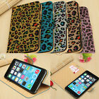 Leopard Print Glitter PU Leather Flip Wallet Stand Case For IPhone 6 Plus 5.5""