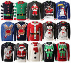 Christmas Jumpers New Novelty 3D Xmas Knit HoHoHo Santa Snowman Elf Reindeer