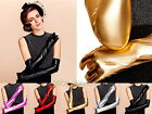 Women Ladies Shiny Glossy Opera Long Gloves Evening Formal Pageant