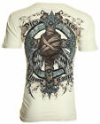 Xtreme Couture AFFLICTION Men T-Shirt BANDAGED Skull Tattoo Biker M-XXL $40 image