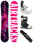 SNOWBOARD SET AIRTRACKS BLUEBIRD ROCKER+SAVAGE W BINDUNG+BOOTS+BAG / 145 151 155