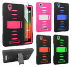 For T-Mobile ZTE ZMAX Z970 RUGGED Hard Rubber Phone Case Cover with Kickstand
