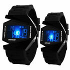 New Mens Boys Watches LED Light Digital Sports Quartz Silicone Wrist Watches