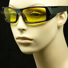 HD YELLOW NIGHT DRIVING VISION SUN GLASSES SAFETY 100% UV 400 SHOOT MP61