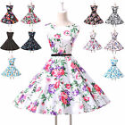 Vintage Retro A-Line 50s Hepburn Style Rockabilly Pinup Swing Party Prom Dress