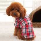 Small Dog Pet Puppy Apparel Plaid Shirt Clothing Coat Pet Clothes Coat Hoodie
