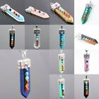 Multi Color Gemstone Sword Healing Chakra Cut Crystal Wired Pendant For Necklace