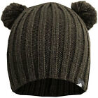 ICE MOUNTAIN MENS SCARY BEAR BOBBLED EAR BEANIE HAT (5055299711712/05)