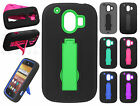 For AT&T ZTE Compel Z830 IMPACT Hard Rubber Case Cover Kickstand Accessory