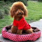 Cute Small Plush Pet Dog Puppy Cat Soft Warm Polka Dot Bed Cushion Nest Mat Pad