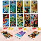 3D Oil Painting Soft TPU Gel Silicone Cover Case For Samsung Galaxy Note 4 N9100