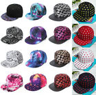 Men Women Vintage Baseball Cap Flat Bill Snapback Hip-Hop Adjustable Hat Unisex