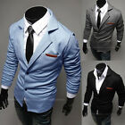 Men's Casual Dress Slim Fit Stylish Two Button Suit Blazer Coat Jackets M-XXL