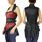 Red Bustier Top Chicstar Victorian Gothic Goth Office Ladies Steampunk