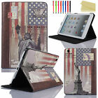 Magnetic Leather Folio Smart Stand Case Cover For iPad Air/Air2/mini 2/iPad2 3 4