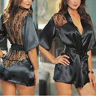 Sexy Lady Lingerie Lace Stain Sleepwear Babydoll Underwear Dress G-string Nighty