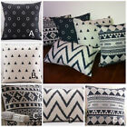 Stylish Black and Cream Cushion Covers
