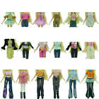 10Pcs=5 Sets Random Outfit Skirt/Shirt/Jacket/Trousers Clothes For Barbie Doll