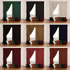 Velour Velvet Plain Dyed Contemporary Pair Of Tape Top Ready Made Curtains