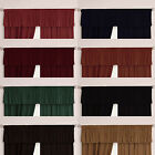 "Velour Velvet Plain Dyed Pelmet Valance. In 11 Colours 92"", 132"" or 184"" Wide"