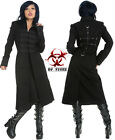 Tripp Gothic Vampire Punk Black Goth Punk Military Sanctuary Jacket Coat Bd870