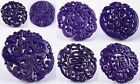 66-71mm Purple old jade pendant bead *each one pictured*