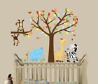 Boys Animals Wall Stickers,  Wall Decals,  Boys Room Decor,  Jungle Animals,  Tree
