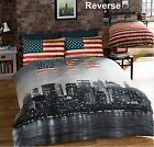 New York City Duvet Cover Sets Vintage Distressed Reversible NYC PHOTO PRINT