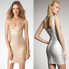 Shinning Sexy Womens Celebrity Bandage Bodycon Evening Club Party Mini Dress S~L