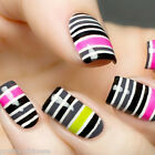3/20/30pcs Pro Nail Art Tips Striping  Tape Line Metallic Sticker Decor11 Colors