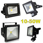 LED FLOODLIGHT PIR WHITE SECURITY GARDEN LANDSCAPE WATERPROOF IP65 GARDEN LIGHT