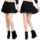 Banned Clothing Black Buckle Mini Skirt Lace Pleats Punk Rock Gothic