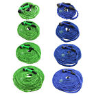 Deluxe 25 50 75 100 Feet Expandable Flexible Garden Water Hose w / Spray Nozzle