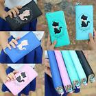 2015 New Fashion Lady Women Cat Purse Long Card Holder Mobile Bag  Clutch Wallet
