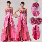 PRINCESS Satin High-Low Quinceanera Cocktail Homecoming Pageant Festival Dress 1