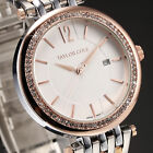 Taylor Cole Fashion Crystal Date Stainless Steel Quartz Lady Women Wrist Watch for sale  Hong Kong