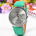 "Women's Men's Wrist Watches ""Who Cares Im Already Late"" Pattern Watches"