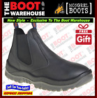 Mongrel 940020 Work Boots. Soft Toe Comfort, Black, Elastic Sided,  FULLY LINED!